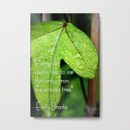 Bronte Quote Metal Print