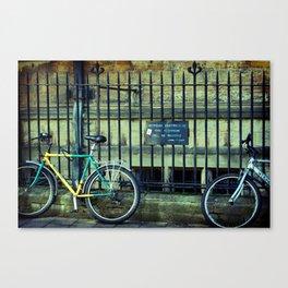 No Bicycles Canvas Print