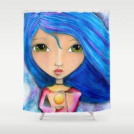 Energy Dreams Girl Shower Curtain