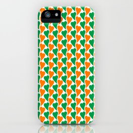 wavy Irish hearts iPhone Case