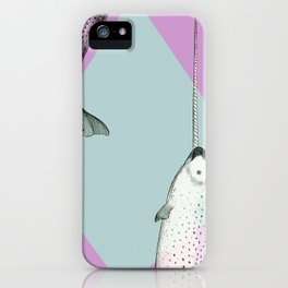 Narwhal Geometric Bright and Colorful iPhone Case