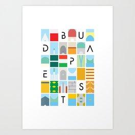 Budapest colors Art Print
