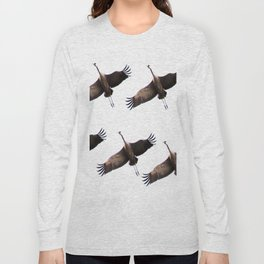 Cranes in flight #decor #society6 Long Sleeve T-shirt