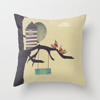 home sweet home Throw Pillows featuring home sweet home by bri.buckley