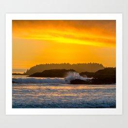 West Coast Waves Art Print