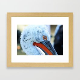 I just come from the shower Framed Art Print