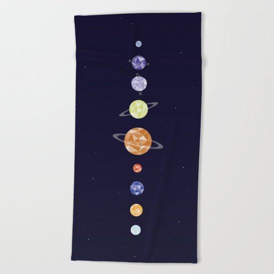 Planets Beach Towel