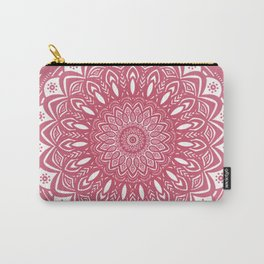 Red Wine Color Mandala Minimal Minimalistic Simple (Yet Bold) Carry-All Pouch