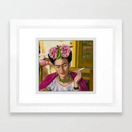 Smokin' Frida  Framed Art Print