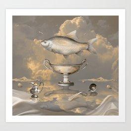 Silver Mood Art Print