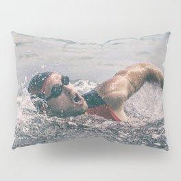 Swimmer in ocean Pillow Sham