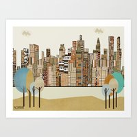 montreal Art Prints featuring montreal by bri.buckley