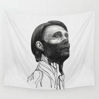 hannibal Wall Tapestries featuring Hannibal Lecter by beart24