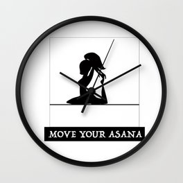 Move Your Asana Wall Clock