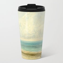 Calm Sea Oil Painting by Gustave Courbet Travel Mug
