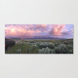 Teton Range Sunrise Canvas Print
