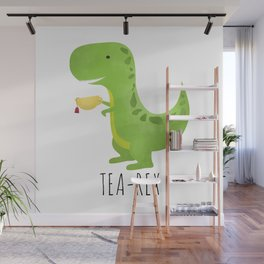 Tea-Rex Wall Mural