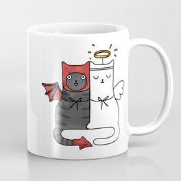 Angel & Demon Cats Coffee Mug