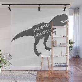 Mama Saurus T-rex Dinosaur Wall Mural