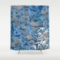 zen Shower Curtains featuring Zen by dominiquelandau