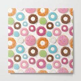 Donut pattern 002 Metal Print