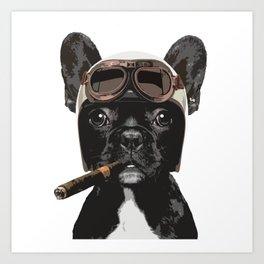 French bulldog Patrol Art Print