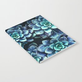 Blue And Green Succulent Plants Notebook