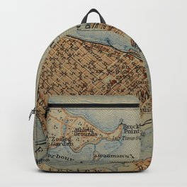 Vintage Vancouver Canada Map (1907) Backpack