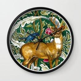 Tapestry Deer Original Watercolor Wall Clock