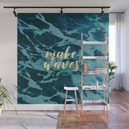 Make Waves in Gold Wall Mural