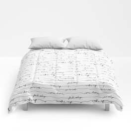 Every morning I am awake. Comforters