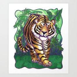 Animal Parade Tiger Art Print
