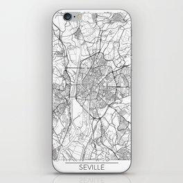Seville Map White iPhone Skin