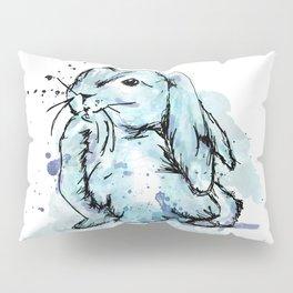 Blue rabbit Pillow Sham