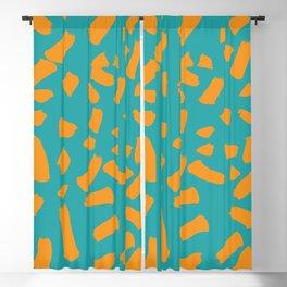 orange blue shapes pattern Blackout Curtain