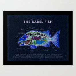 Babel Fish Anatomy Art Print