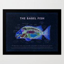 Babel Fish Anatomy Art Print