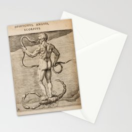 Hugo de Groot's Syntagma Arateorum 1600 - 04 Ophiuchus, Anguis (Serpens) & Scorpio Stationery Cards