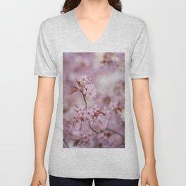 Beautiful flowering cherry tree Unisex V-Neck