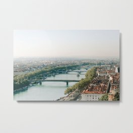 Sunrise over Lyon Metal Print