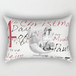 FOURTH DAY OF CHRISTMAS WEIMS Rectangular Pillow