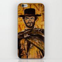 clint eastwood iPhone & iPod Skins featuring Clint Eastwood by Olga Ko