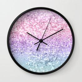 Unicorn Girls Glitter #1 #shiny #pastel #decor #art #society6 Wall Clock