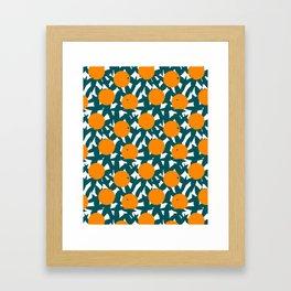 Art Deco Minimalist Orange Grove Framed Art Print