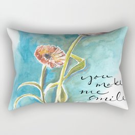 You Make Me Smile Rectangular Pillow