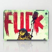 writing iPad Cases featuring Writing Fuck by Mauricio Santana