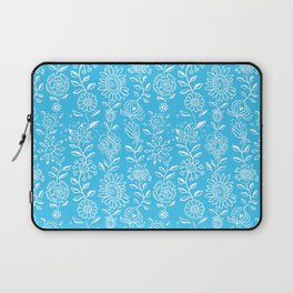wonky wildflower waterfall in aqua Laptop Sleeve