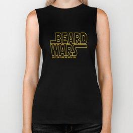 Beard Wars May The Fuzz Be With You Men's Sci-Fi T-shirt Biker Tank