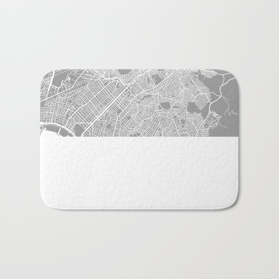 Athens map grey Bath Mat