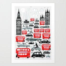 London Traffic Art Print
